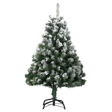 Weihnachtsbaum 120cm mit Schnee Effekt  LED Christbaum Kunstbaum Weihnachten