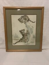 "Ralph Thompson Framed And Matted Cubs At Play 22""x26"" Frame"
