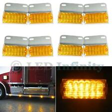 8x Amber 12-LED Side Marker Indicator Lights Commercial Vehicle Off-Road Lamp
