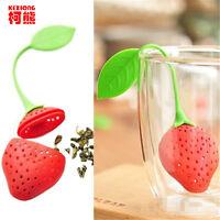 Cute Food-grade Silicone Strawberry Design Tea Leaf Strainer Infuser Filter Tool