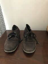 Brown Suede Desert Boots 5 Lace Up