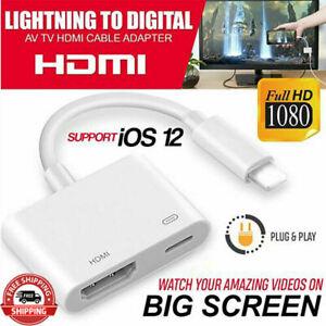 1080P Lightning zu Digital AV TV HDMI Kabel Adapter für iPad Brandneu