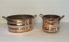 Copper Bowl Pot Decor Houston International Trading Made In Turkey Set Of 2