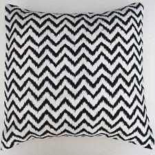 "New Handmad black & white chevron fabric scatter Cushion Cover 16"""