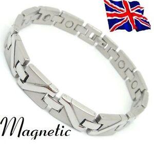Magnet Magnetic Pure TITANIUM Energy Power Bracelet Health Bio Men's Male