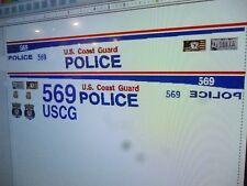 US Coast Guard  Police Vehicle Decals 1:24