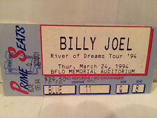 Billy Joel Concert Ticket Stub Buffalo NY 3-24-1994