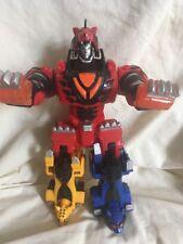"Power Rangers Dx Jungle Fury - Jungle Pride Spinning 11"" Tall Megazord -3 Zords"