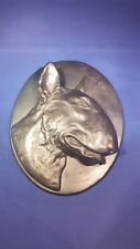Bull Terrier Cold Cast Bronze Dog Plaque Head study