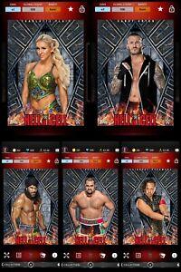 Topps WWE SLAM Digital 2017 Hell in a Cell Charlotte Orton Jinder Rusev Nakamura
