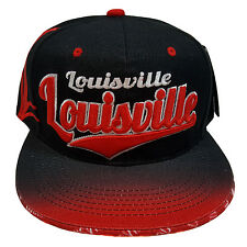 LOUISVILLE EMBROIDERED FLAT FLASH Snapback Cap
