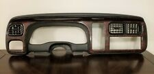 1998 1999 2000 Dodge Durango Dakota Instrument Cluster Bezel Dash Trim Woodgrain