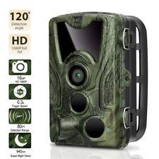 Wildkamera Jagdkamera 16MP HD 1080P IP65 Wasserdicht Fotofalle IR Nachtsicht Neu