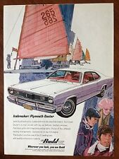 1970 Original Print Ad White PLYMOUTH DUSTER ~Ice Breaker~ Budd Built Parts