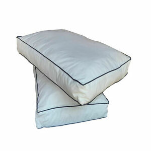 Pillow Protector Cover Box Zipped Piping Case White Hotel Bed 100%  Poly cotton