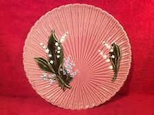 Dusty Rose German Majolica Lily of the Valley Platter, gm926