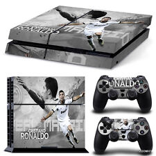 PS4 Playstation 4 Console Skin Decal Sticker Cristiano Ronaldo Real Madrid Skins