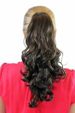 Braid Extension Hair Piece Brown Mix approx. 35 CM CURLY Butterfly Clip