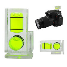 Flash Hot Shoe Bubble Spirit Level Triple Double 2 Axis For Canon Nikon Fuji SLR