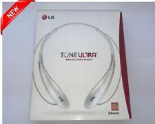 New Lg Tone Ultra Hbs-800 Wireless Stereo Headset + Bluetooth Neckband White