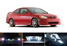 White LED Package - License Plate + Reverse for Honda Civic Coupe (4 Pcs)