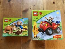Lego DUPLO set of 2 - 5603 & 5643 Fire Chief and Little Piggy NEW SEALED!