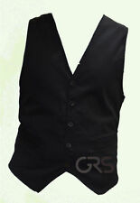 Cotton Business Patternless Big & Tall Waistcoats for Men