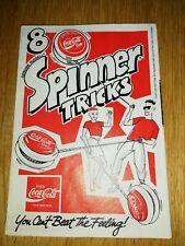 COCA COLA COKE Russell Spinner Vintage Spinner livret Yo Yo
