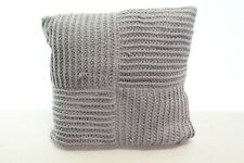 "Hotel Collection 20"" Square Decorative Pillow Waffle Weave Grey L97225"