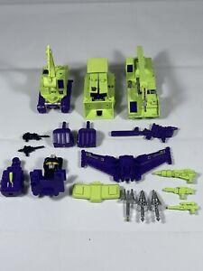 Vintage G1 Transformers CONSTRUCTICONS DEVASTATOR Lot