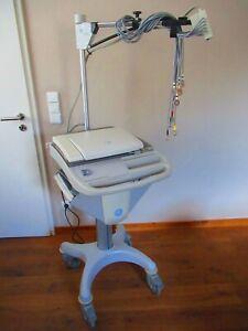 GE MAC 5500 EKG Gerät mit KISS Sauganlage und Elektroden