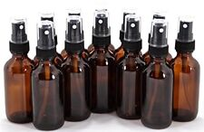 AMBER GLASS SPRAY BOTTLE 12 Pack Fine Mist Sprayer Essential Oil Perfume 2 Oz