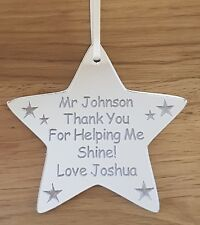 PERSONALISED SCHOOL GIFT FOR TEACHER GIFTS CHRISTMAS NURSERY END OF YEAR TERM
