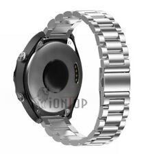 Black/Silver Stainless Steel Metal Bracelet Wrist Watch Band Strap 18 20 22mm