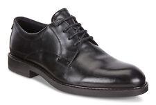 Men's ECCO Vitrus III Black Santiago Lace Leather Shoes  640504 01001 Medium