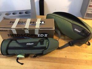 Nikon Fieldscope ED III 60 mm with 20-60 zoom eyepiece and extras