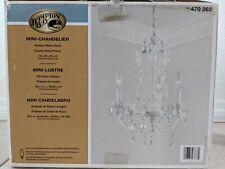 Hampton Bay Kristin 3-Light Antique White Hanging Mini Chandelier