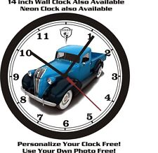 HUDSON PICKUP TRUCK WALL CLOCK-FREE US SHIP-NEW!