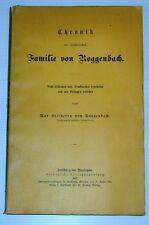 Cronología familia roggenbach Friburgo bonn aldea 1888 país historia política de arte