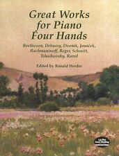 Great Works For Piano Four Hands Learn to Play Classical DUETs Music Book