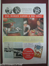 1937 Camel Cigarettes Original Print Ad with Erl Roman