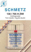 SCHMETZ UNIVERSAL TWIN, DOUBLE NEEDLE #2.0/80, 1 each fits HOME ZIG ZAG MACHINE
