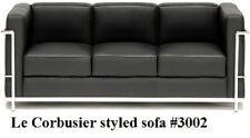 Modern Le corbusier black leather sofa #3002