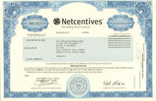 Netcentives Inc. > dot-com bubble internet stock certificate share