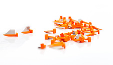 Fender Wedge Tooth Prep Small, orange, 50 pcs - Dental
