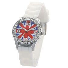 Montre Enfant mode Union Jack London Angleterre - drapeau Anglais UNKD-BLANC