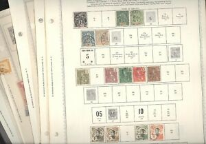 INDO CHINA, Excellent Stamp Collection hinged on Minkus pages