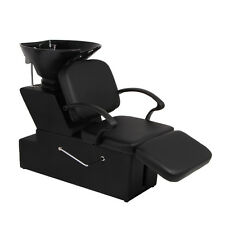 Shampoo Backwash Chair Spa Bowl Barber Sink Equip Station Unit For Beauty Salon