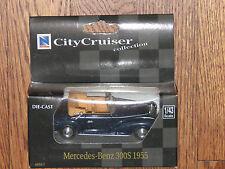 City Cruiser Collection 1/43 Black Mercedez-Benz 300S Convertible 1955 MIB