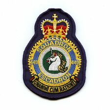 RCAF CAF Canadian 449 Squadron Heraldic Colour Crest Patch